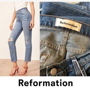 REFORMATION-Julia distressed high waist jeans